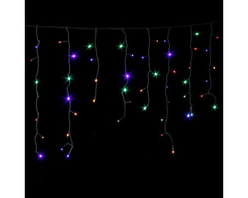 Гирлянда Бахрома 90 ламп, 220х60 см разноцветная