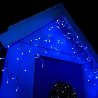 Гирлянда Бахрома уличная 100 ламп, 300х30 см голубая