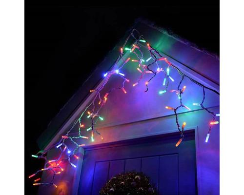 Гирлянда Бахрома уличная 100 ламп, 300х30 см разноцветная