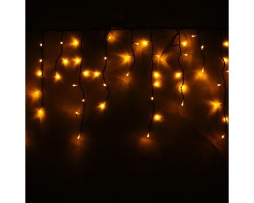 Гирлянда Бахрома уличная 250 ламп 3 м эконом желтая