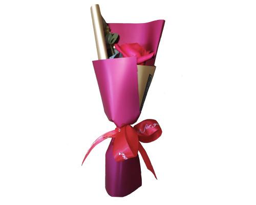 Букет цветов из мыла, красная роза 29 см