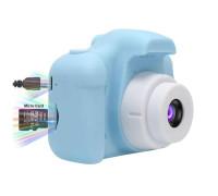 Детский фотоаппарат X2 цифровой голубой (прорезиненное покрытие)