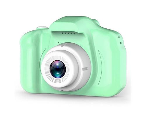 Детский фотоаппарат X2 цифровой зеленый (прорезиненное покрытие)