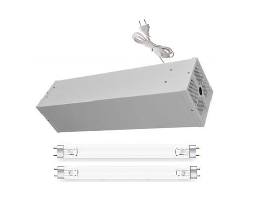 Облучатель-рециркулятор бактерицидный Фотон ОБРН-01-2х15 в комплекте с двумя лампами по 15W (без озона) до 60 м2