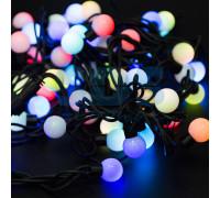 Электрогирлянда 4.5 м, 20 ламп, пластик, белые шары диаметром 3.5 см, разноцветный свет