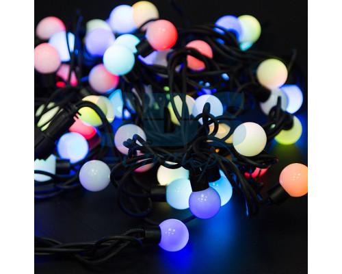 Электрогирлянда 4.5 м, 20 ламп, пластик, белые шары диаметром 2.3 см, разноцветный свет