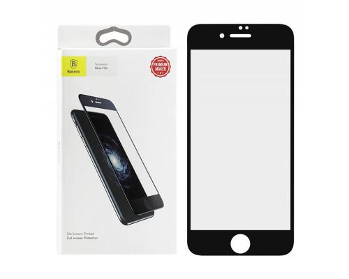 Защитное стекло Baseus для iPhone 7 5D черное Anti Blue Ray