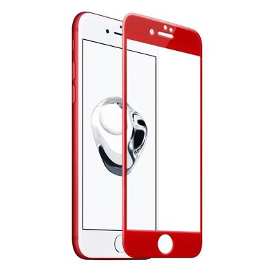 Защитное стекло для iPhone 7 3D красное