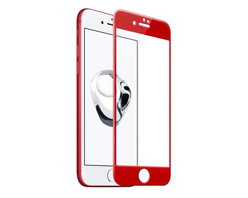 Защитное стекло для iPhone 8 Plus 3D красное