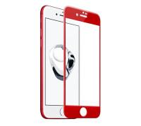 Защитное стекло для iPhone 8 3D красное