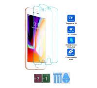 Защитное стекло для iPhone 8 Plus, вид - 2.5D с салфеткой и стикером, в комплекте 2 стекла