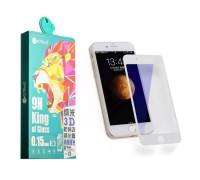 Защитное стекло Сoteetci для iPhone 7 Plus 3D белое