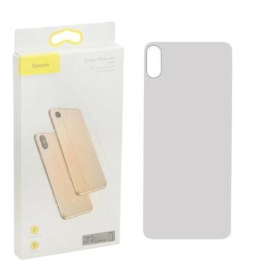 Защитное стекло Baseus для iPhone XS задняя часть толщина 0.3мм прозрачное