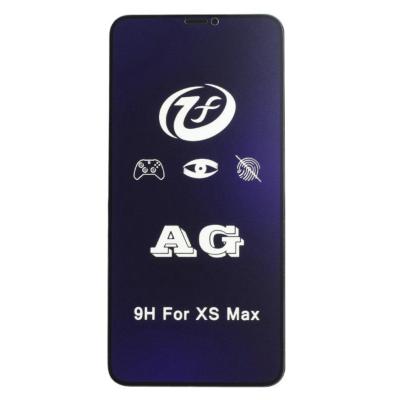 Защитное 5D стекло iPhone XS Max матовое с антибликовым эффектом