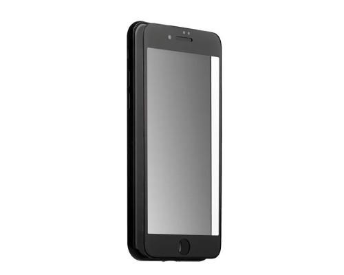 Защитное стекло для iPhone 8 5D полная проклейка, черная рамка, матовое
