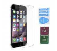 Защитное стекло для iPhone 8 (вид - 2.5D, в комплекте салфетка и стикер)