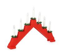 Рождественская горка пластиковая красная