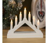 Светильник Рождественская горка пластиковая малая белая