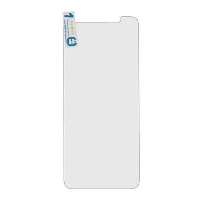 Защитное стекло для Samsung Galaxy A6 Plus (вид - 2.5D, в комплекте салфетка и стикер)