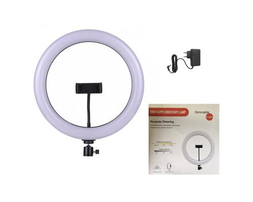 Кольцевая светодиодная лампа диаметром 36 см мощностью 36 Вт с держателем для смартфона