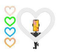 Кольцевая лампа RGB в виде сердца с держателем телефона, размер лампы 49 см