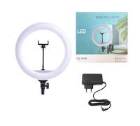 Кольцевая лампа YQ-360A диаметр 36 см с держателем для телефона, мощность 45 Вт, питание от сети 220