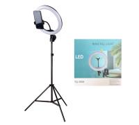 Кольцевая лампа YQ-360A селфи лампа с держателем для смартфона и штативом, диаметр лампы - 36 см