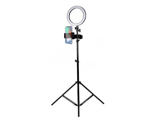 Кольцевая светодиодная лампа 16 см с держателем для телефона на штативе