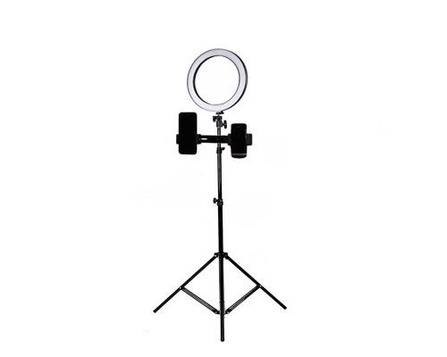 Кольцевая светодиодная лампа 16 см с универсальным держателем для телефона на штативе