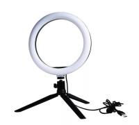 Кольцевая лампа для профессиональной съемки в комплекте с настольной треногой диаметром - 16 см