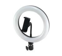 Кольцевая лампа для профессиональной съемки 20 см с держателем для смартфона