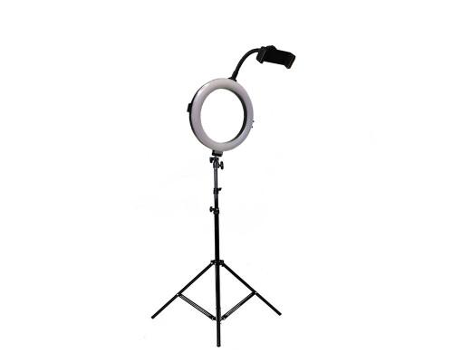 Кольцевая светодиодная лампа с держателем для телефона и штативом, диаметр лампы - 20 см