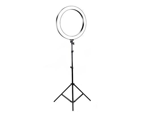 Кольцевая лампа визажиста для профессиональной съемки, селфи лампа со штативом, диаметр лампы - 26 см