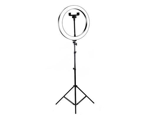 Кольцевая лампа для профессиональной съемки, селфи лампа с держателем для смартфона, со штативом, диаметр лампы - 26 см