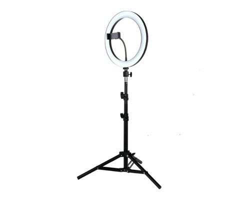 Кольцевая лампа с держателем для смартфона и штативом, диаметр лампы - 30 см