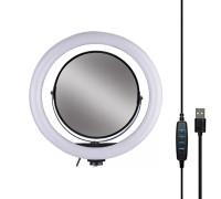 Кольцевая лампа 32 см с зеркалом