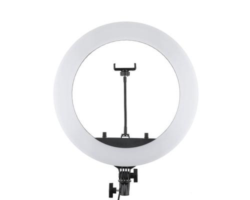Кольцевая лампа HQ-18 селфи лампа с держателем для смартфона, диаметр 45 см
