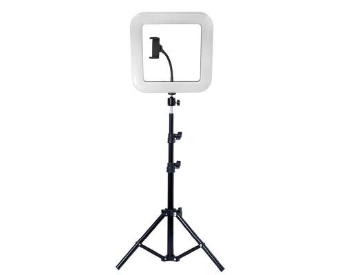 Квадратная светодиодная селфи лампа D35 с держателем для телефона и штативом