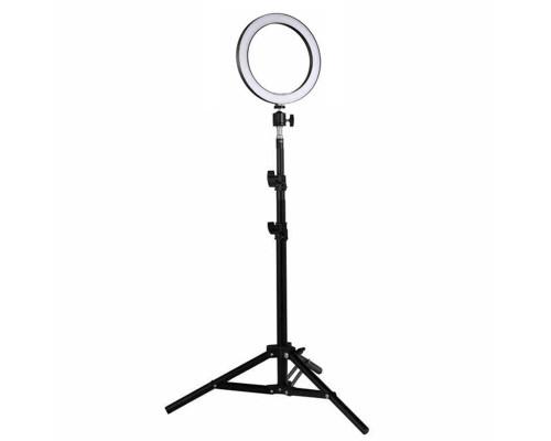Кольцевая лампа визажиста для профессиональной съемки, со штативом LED М-20, диаметр лампы - 20 см