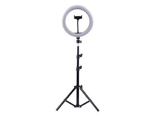 Кольцевая лампа М33 диаметром 30 см на штативе с держателем для телефона