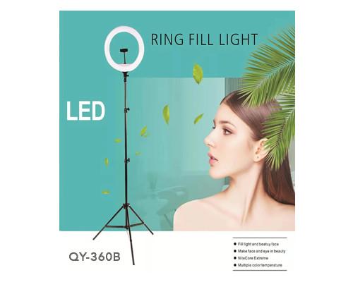 Кольцевая лампа YQ-360B селфи лампа с держателем для смартфона, со штативом и дистанционным пультом управления, диаметр лампы - 36 см