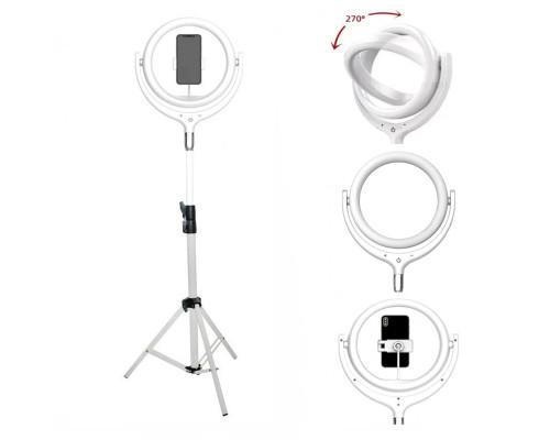 Кольцевая светодиодная лампа Remax RL-LT17 на штативе с держателем для смартфона (белый)