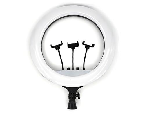 Кольцевая лампа RL-21 М-54 селфи лампа с тремя держателями для смартфона, диаметр 54 см