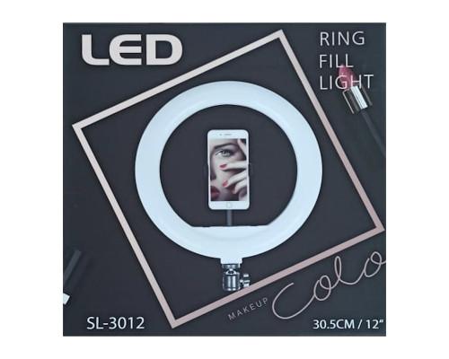 Кольцевая лампа SL-3012 диаметром 30 см с держателем для телефона