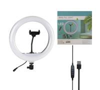 Кольцевая лампа YQ-320B диаметр 30 см с держателем для телефона, мощность 20 Вт, питание от USB