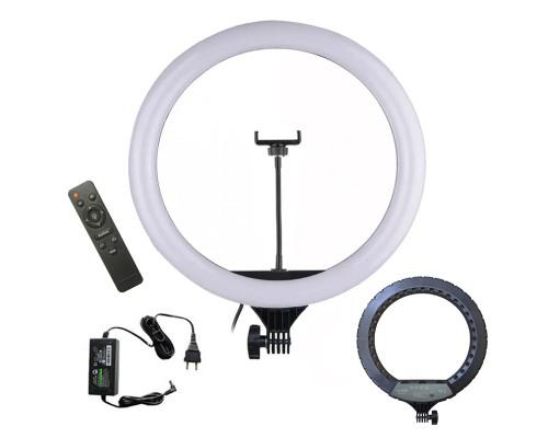 Кольцевая лампа YQ-460B с держателем для смартфона, диаметр 45 см