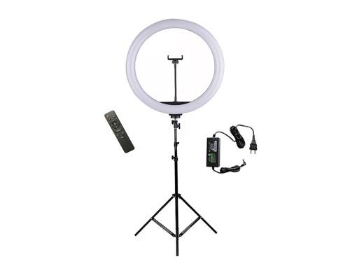 Кольцевая лампа YQ-460B с держателем для смартфона, диаметр 45 см (со штативом 1,5 м)