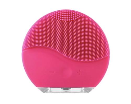Очищающий и тонизирующий массажер для лица с вибрацией (розовый)