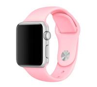 Ремешок для Apple Watch 42 - 44 мм силиконовый розовый