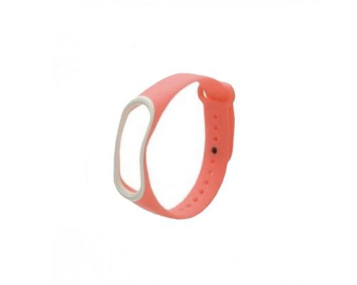Ремешок для Xiaomi Mi Band 4 оранжевый с цветной окантовкой